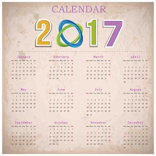 2017カレンダー無料テンプレート6
