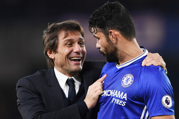 ' I don't mind shaking Diego Costa' -Chelsea coach, Antonio Conte claims after striker's move to Atletico Madrid
