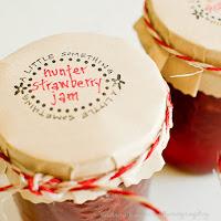 Strawberry Jam Jar Labels