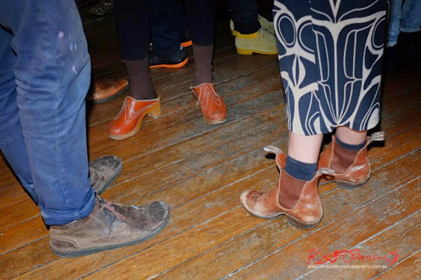 Leather low cut mens shoe, Clogs, RM Wiliams Cuban Heel boots - We all Went Walking – Eliya Nikki Cohen the corner cooperative Head On Photo Festival