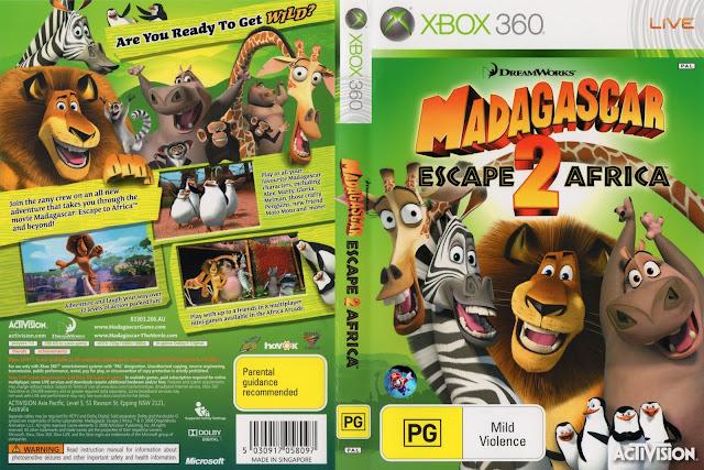 RGH360LTU: XBOX 360 MADAGASCAR ESCAPE 2 AFRICA