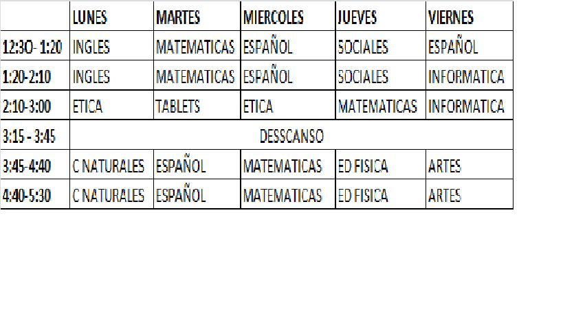 HORARIO E INDICACIONES CARPETA LECTOESCRITURA Y ORALIDAD ...