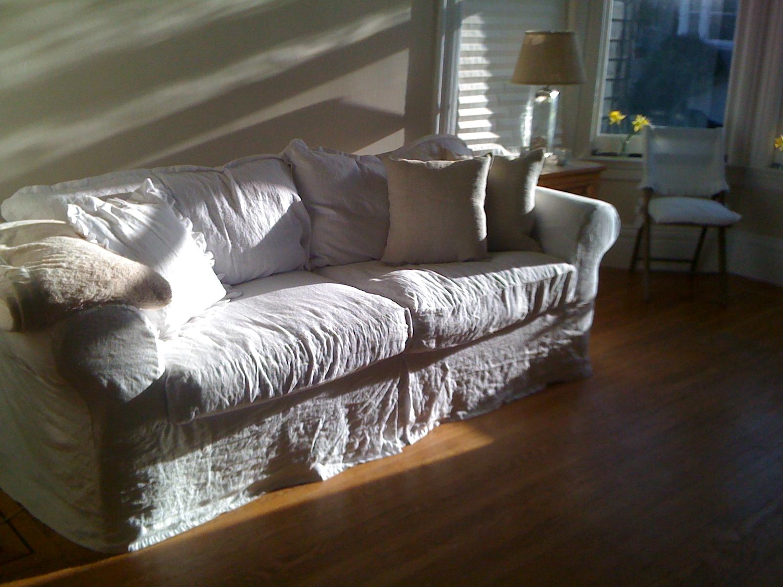 Linen Slipcovered Sofa Diplomat Sleeper Uk Summersoul My White