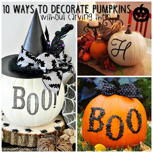 10 Ways to Decorate Pumpkins (without carving them)