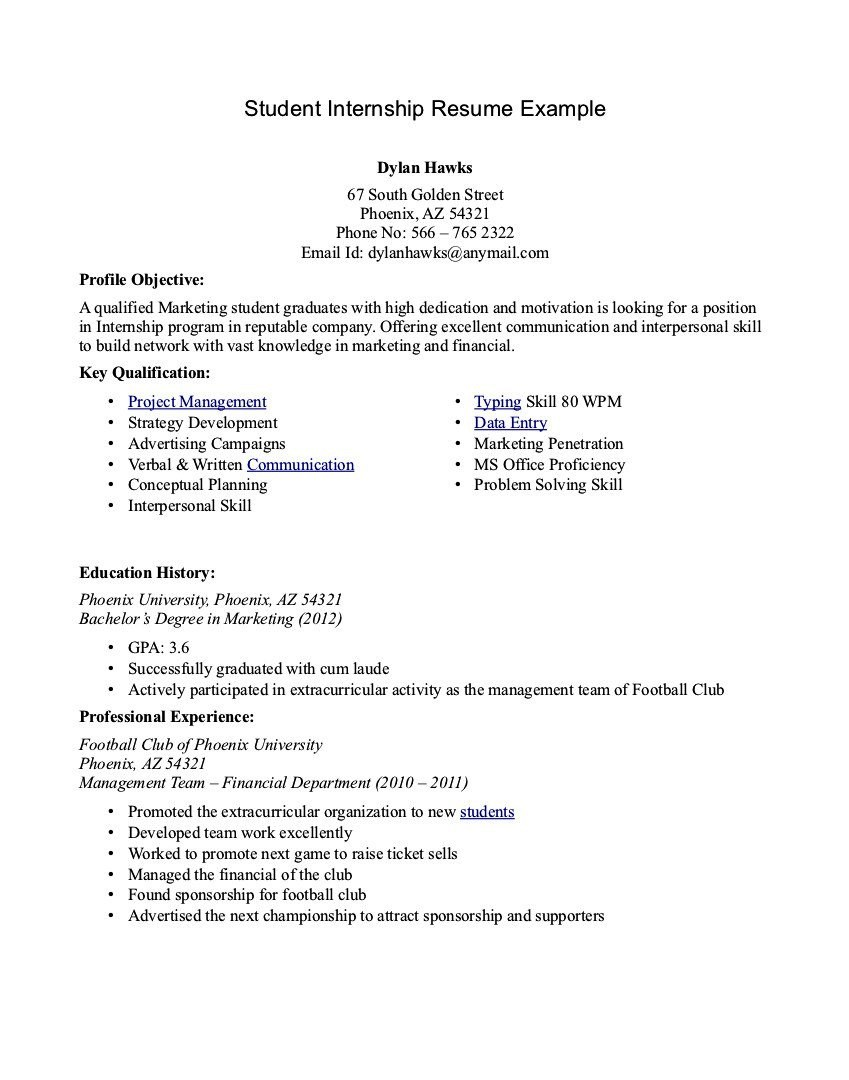 College Student Resume Templates Microsoft Word  College Resume Template Microsoft Word