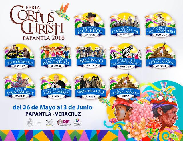 programa feria de corpus christi papantla 2018