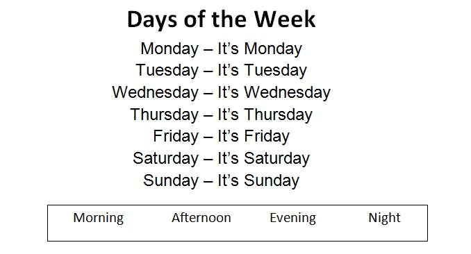 Dating days of the week