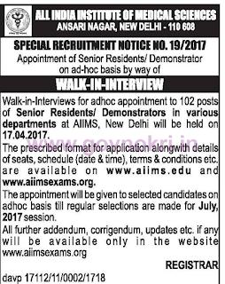 AIIMS-Delhi-Recruitment-2017
