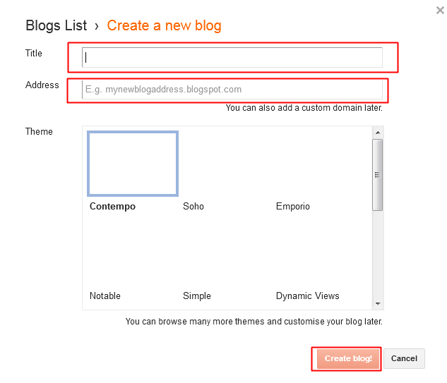 How To Create a Blog With Blogger, blogger, free blog