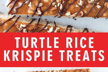 TURTLE RICE KRISPIE TREATS