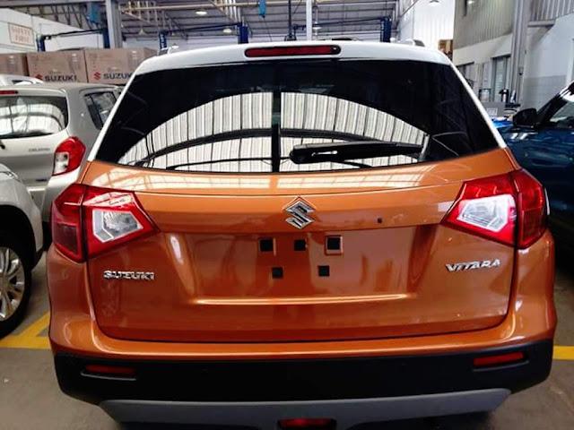 Suzuki Vitara suv spied rear