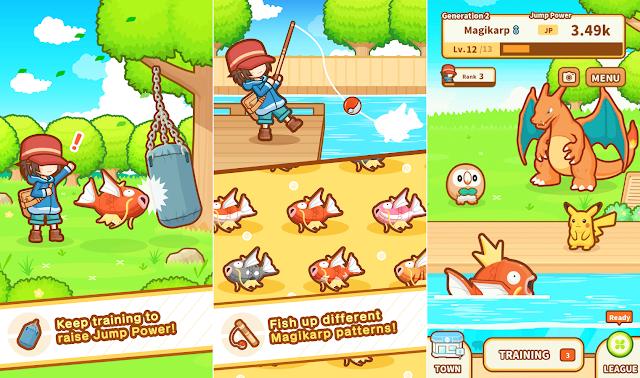 Tampilan Game Pokémon Magikarp Jump Mod Android