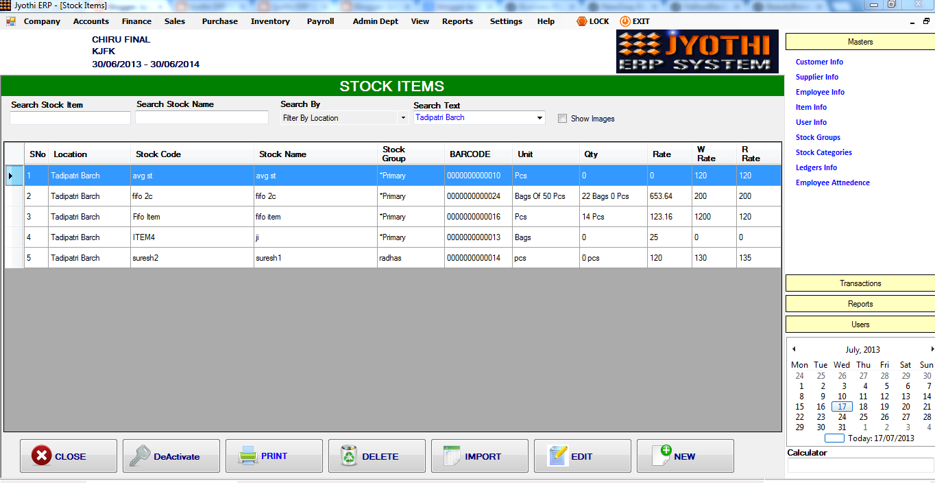 Jyothi Erp System In Vb Net Source Code Erp Client And
