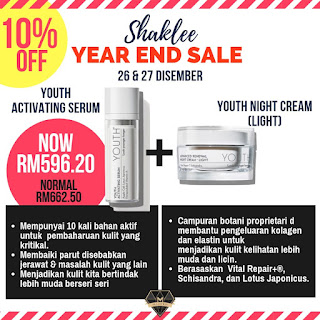 Shaklee Year End Sale 26hb - 27hb Disember 2018
