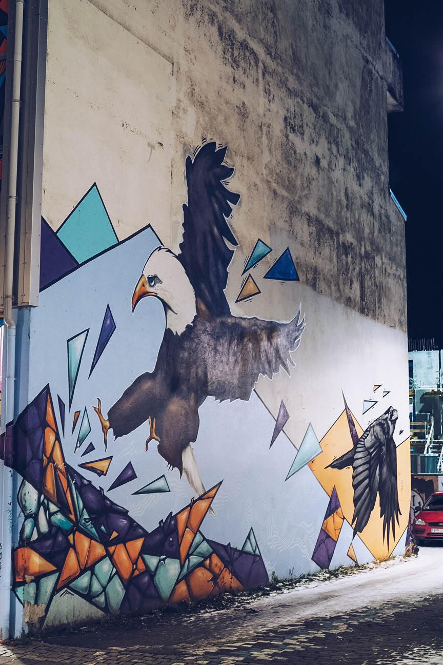 Eagle mural street art
