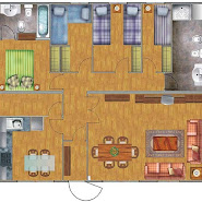 TWO BEDROOMS 85m2 HOUSE PLAN - 3D HOME PLANS INCLUDED : HOME