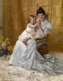 Джон Оттис Адамс John Ottis Adams –  Portrait of Martha Wysor Marsh and Son, John Edwin