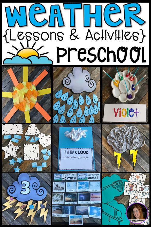 Weather Activities for Preschool - Kindergarten Rocks ...