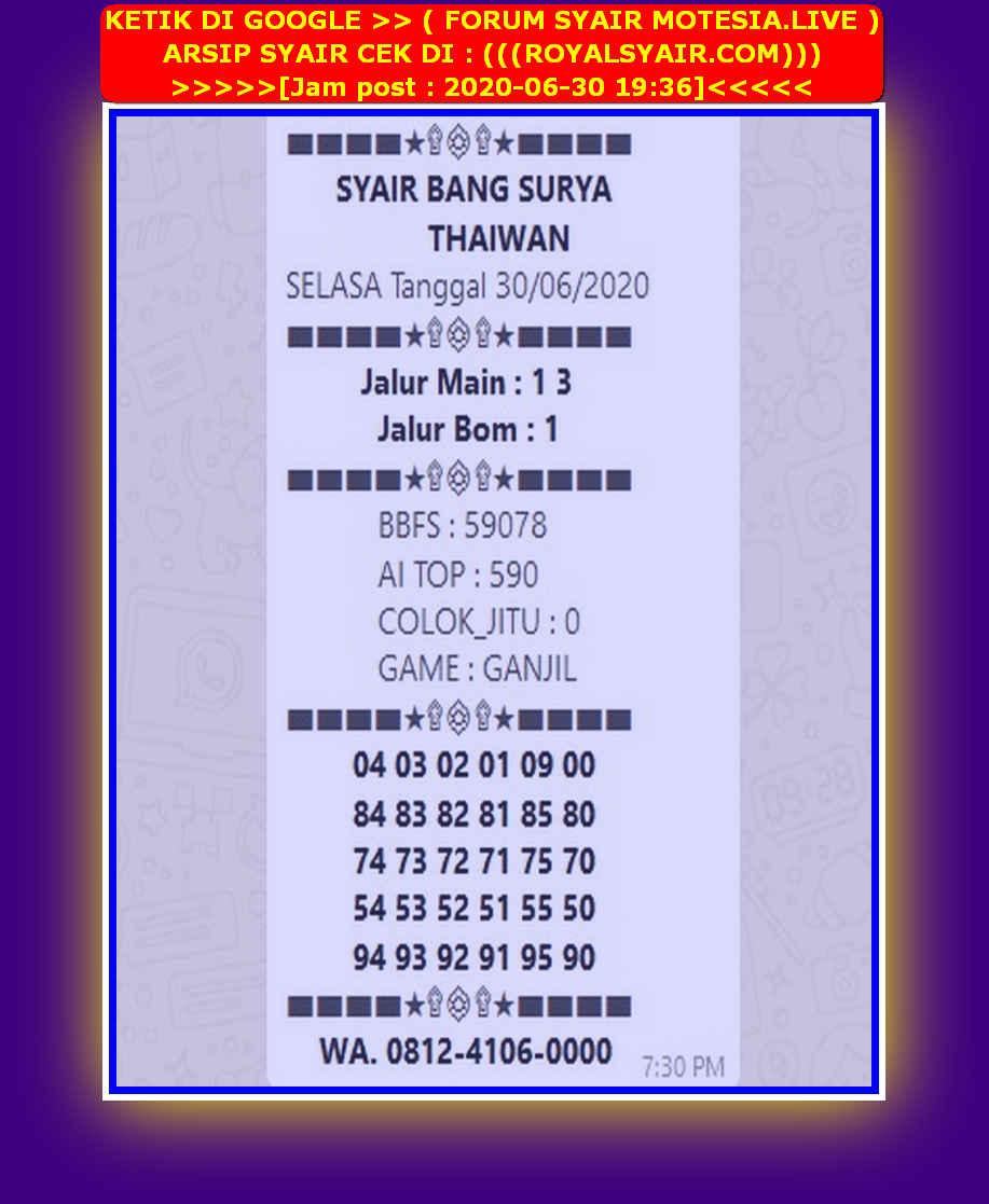 Kode syair Hongkong Selasa 30 Juni 2020 32