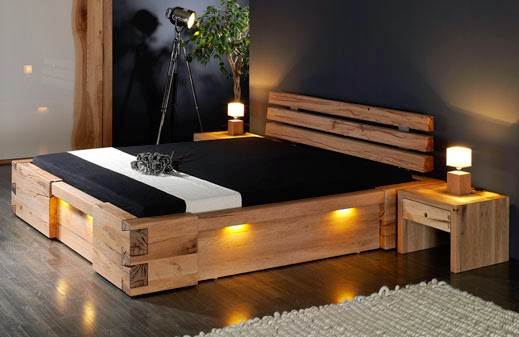holzbett rustikal. Black Bedroom Furniture Sets. Home Design Ideas