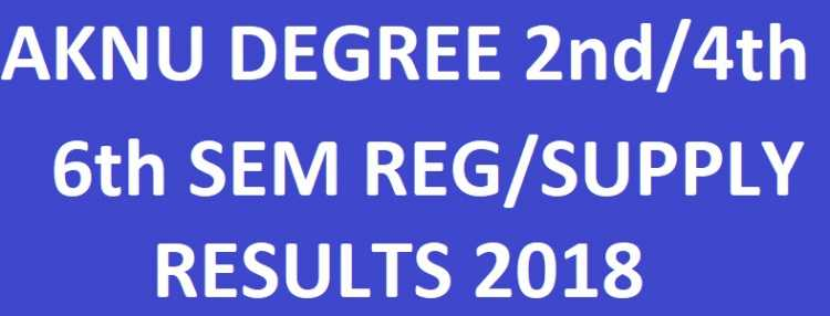 AKNU Degree 2nd/4th/6th Sem Reg/Supply Results