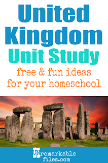 This United Kingdom (UK) unit study is packed with activities, crafts, book lists, and recipes for kids of all ages! Make learning about the UK in your homeschool even more fun with these free ideas and resources. #unitedkingdom #uk #kids #homeschool