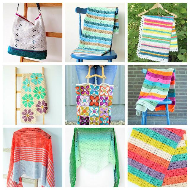 crochet wraps shawls afghans bags patterns