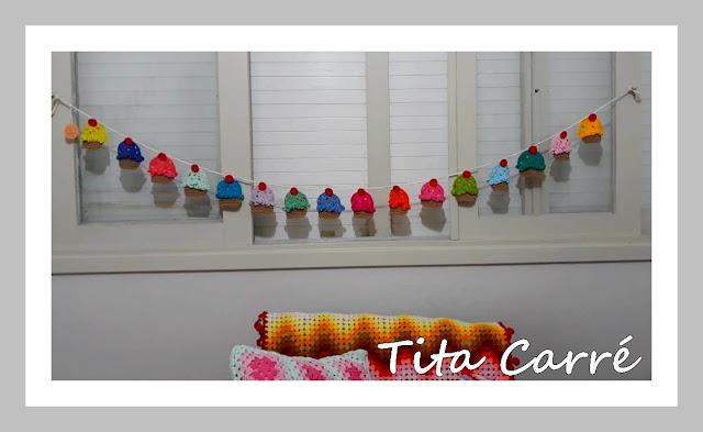 Adoçando o lar com Cupcakes em crochet