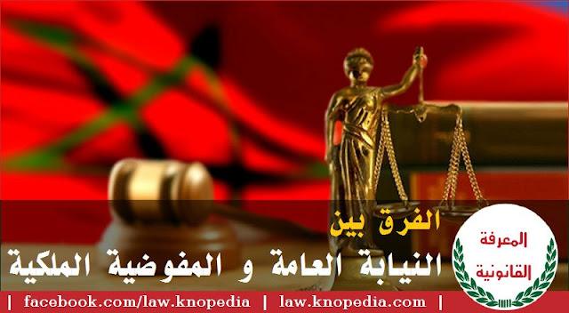 الفرق بين النيابة العامة و المفوضية الملكية