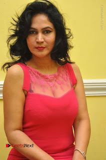 Telugu Actress Vijaya Murthy Stills in Red Short Dress at Www.Meena Bazaar Movie Opening  0039.JPG