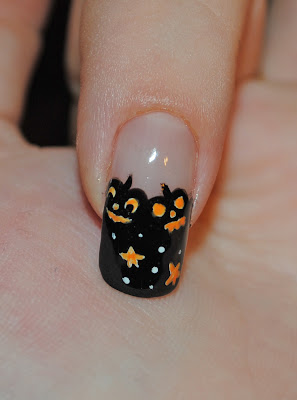 nail art halloween nail designs with black paint color