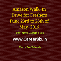 Amazon Walk-In Drive for Freshers Pune 23rd to 28th of May-2016