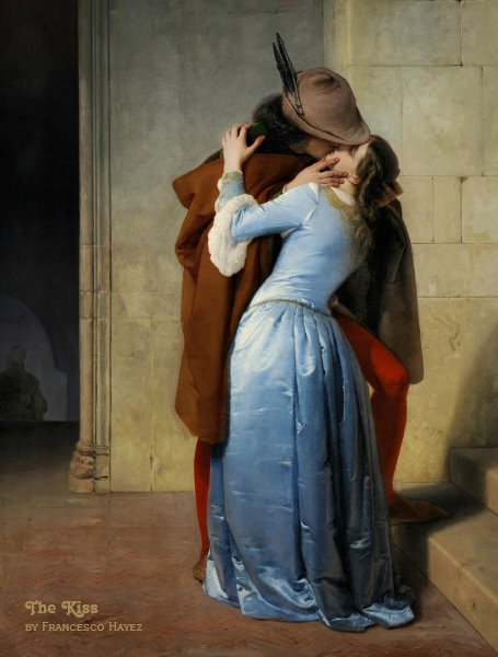 The kiss (Il Bacio) by Francesco Hayez CC1196 Postcard