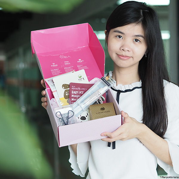 althea pink box