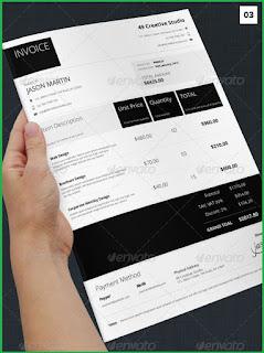 freelance design invoice template