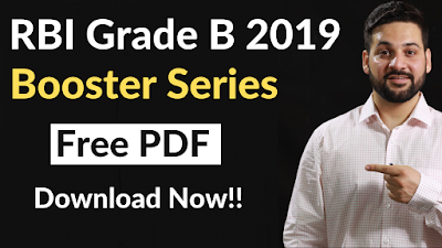 RBI Grade B Booster Series- PDF