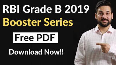 RBI Grade B Booster Series- PDF