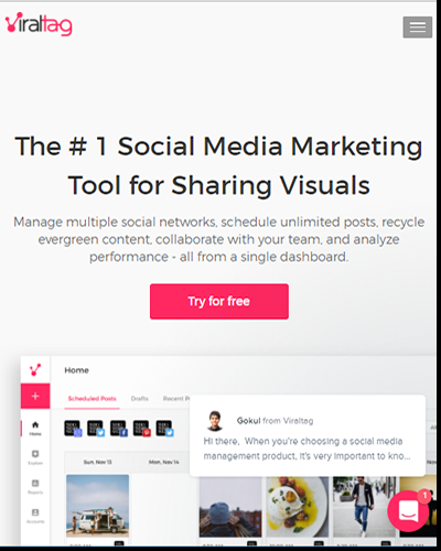 Use Viraltag to boost traffic from social media