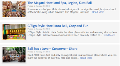 Bali Travel Guide Website