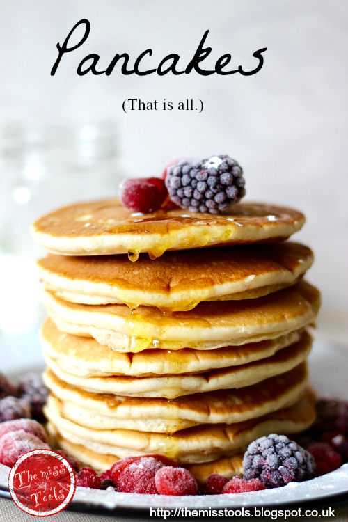 oggi é la giornata dei pancake! - it's pancakes day!