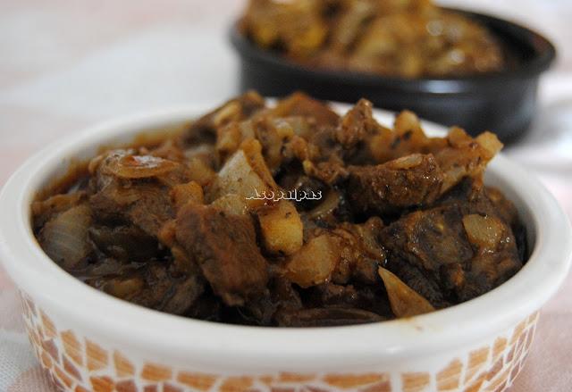 Carne de Venado con Hierbabuena y cebolla