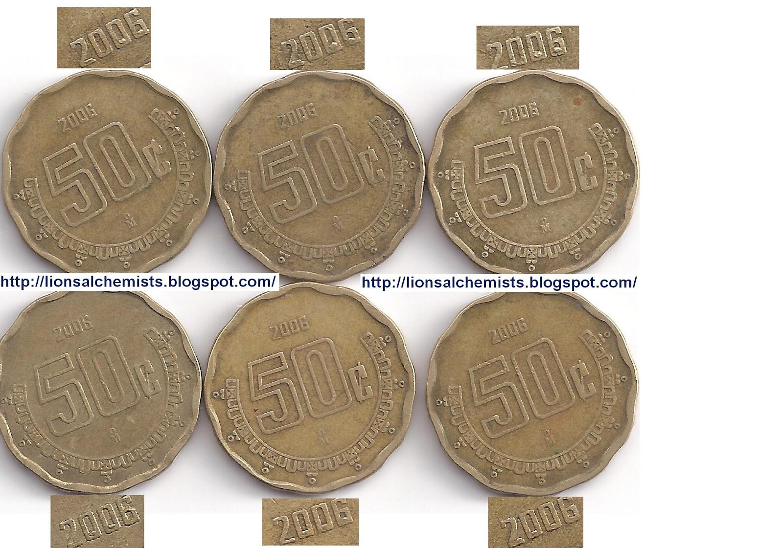 Lions Alchemists: 50 centavos Cono Monetario