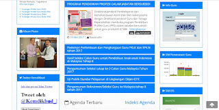 Website Info GTK 2017, Inovasi Baru yang Memudahkan Para Pengajar