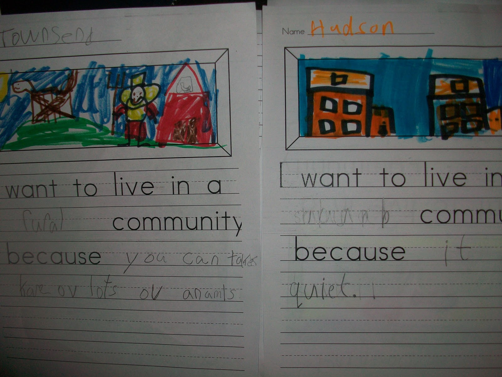 Sarah S First Grade Snippets Communities Unit