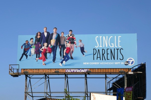 Single Parents extension cut-out billboard