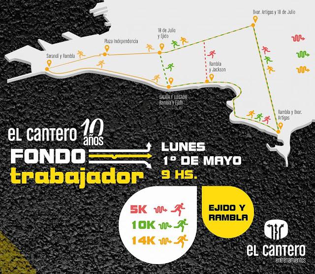 5k - 10k - 14k Fondo trabajador de El Cantero (Rambla y Ejido - Montevideo, lun 01/may/2017)