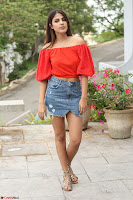 Rhea Chakraborty in Red Crop Top and Denim Shorts Spicy Pics ~  Exclusive 251.JPG