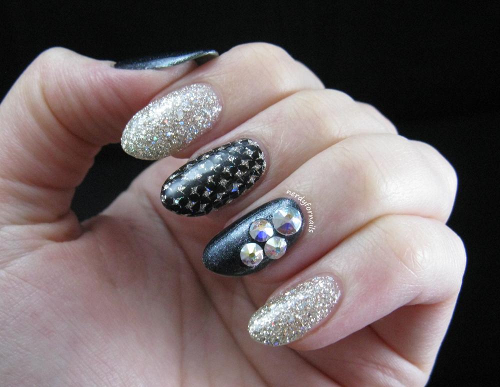 Nerdy for Nails: Birthday Skittlette with Swarovski Crystals