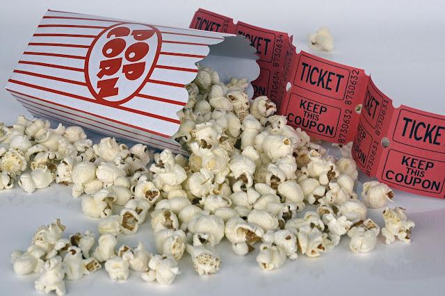 Movie popcorn and tickets