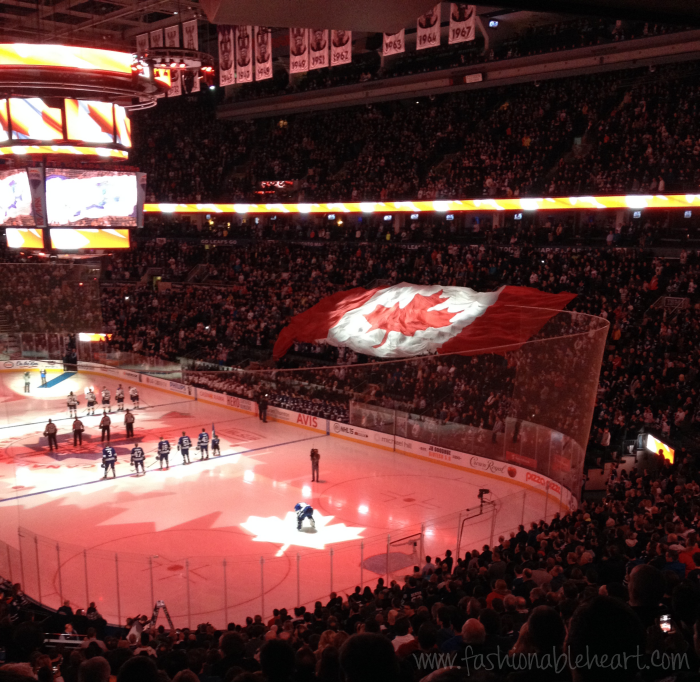 acc hockey leafs suite nhl anthem flag